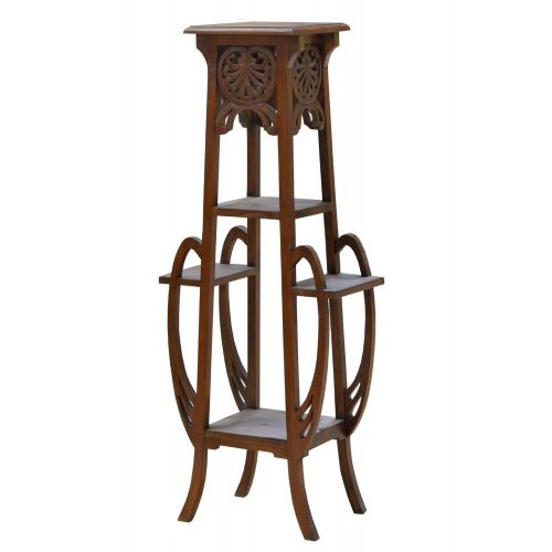 Art Nouveau French Mahogany Plant Stand